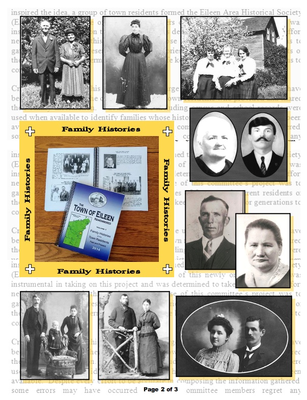 Eileen Wisconsin Historical Society - Family Histories