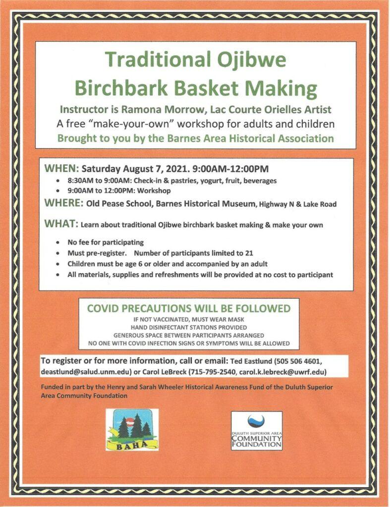 Barnes, Wisconsin - Traditional Ojibwe Basket Making